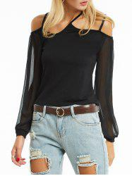 Chiffon Sleeve Cold Shoulder Cami Blouse