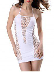 Halter Cut Out Bodycon Mini Dress