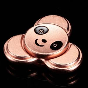 Stress Relief Toy Panda Pattern Metal Finger Gyro - ROSE GOLD 6*6CM