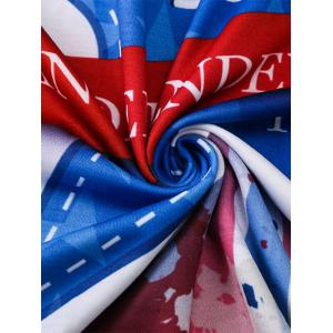 Tie Dye Fourth July Graphic T-Shirt - COLORMIX 3XL