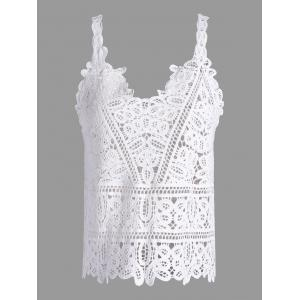 Crochet Openwork See Through Tank Top