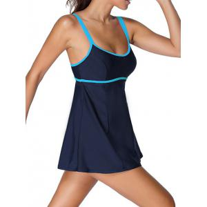 Halter Ruffle Padded Tankini With Underwire -