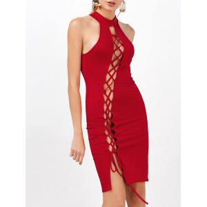 Criss Cross Backless Bodycon Cocktail Club Dress