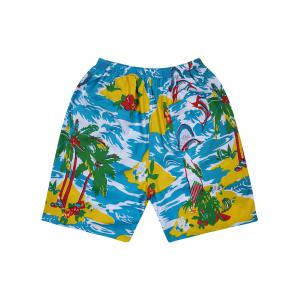Hawaiian Tropical Print Board Shorts -