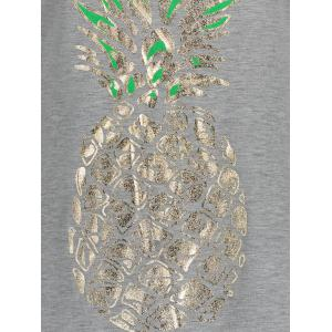 Racerback Pineapple Print Tank Top -