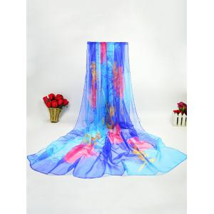 Fancy Rose Printed Ice Silk Lightsome Scarf