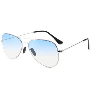 Metal Crossbar Ombre Pilot Sunglasses