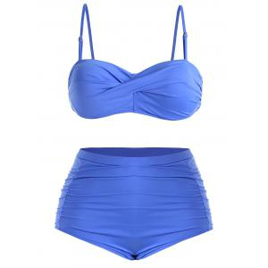 Plus Size Twist Underwire Bikini Set