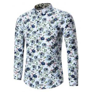 Plus Size All Over Floral Printed Shirt