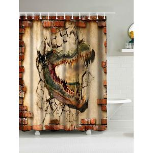 Dinosaur Print Waterproof Fabric Bath Curtain