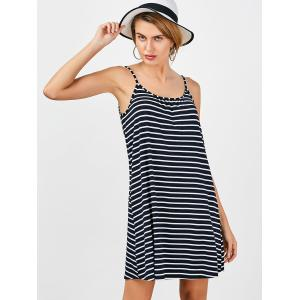 Casual Striped Slip Mini Shift Dress -