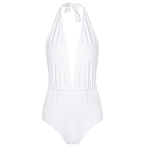 Plunge Halter Shaping One Piece Swimsuit -