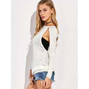 Cutout Sweater - WHITE 2XL