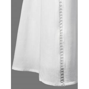 Lace Panel Openwork Insert Flapper Dress - WHITE XL