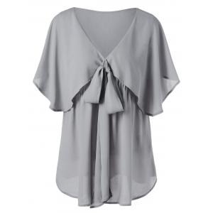 Plus Size Overlay Blouse