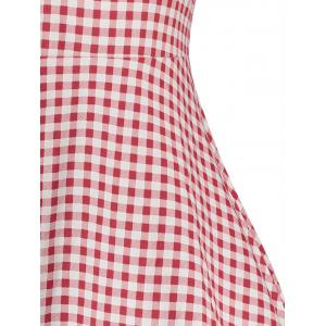 Gingham High Waisted A Line Robe vintage -