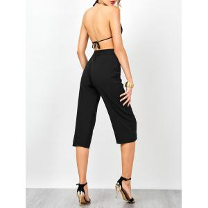 Halter Open Back Sleeveless Jumpsuit