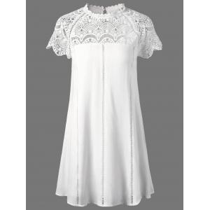 Lace Panel Openwork Insert Flapper Dress