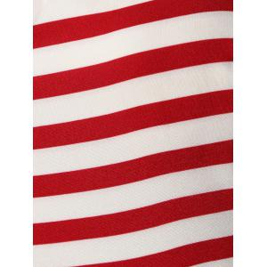Halter American Flag Vintage Dress - Rouge M