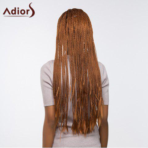Affordable Adiors Senegal Twists Long Braids Front Lace Synthetic Wig - 26INCH BROWN Mobile