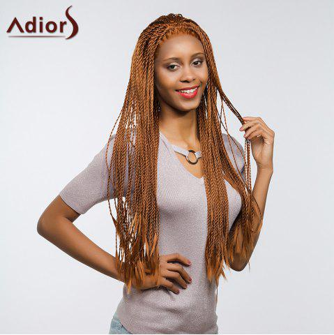 Discount Adiors Senegal Twists Long Braids Front Lace Synthetic Wig - 26INCH BROWN Mobile