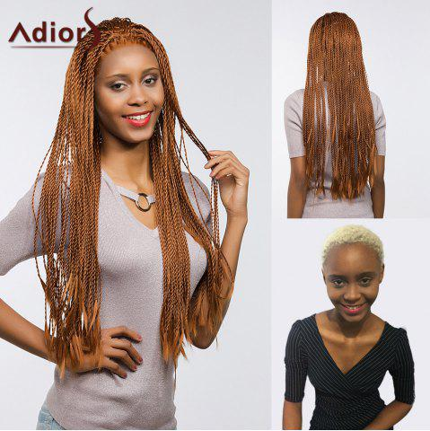 Online Adiors Senegal Twists Long Braids Front Lace Synthetic Wig - 26INCH BROWN Mobile