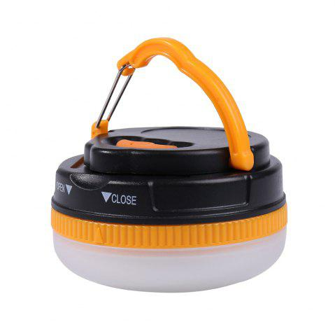 Chic Protable 5 Modes LED Camping Lamp - YELLOW AND BLACK  Mobile