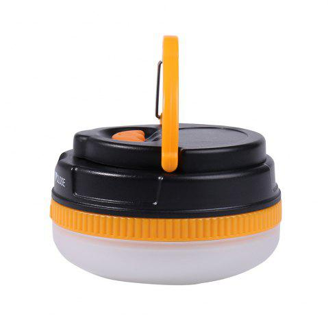 Trendy Protable 5 Modes LED Camping Lamp - YELLOW AND BLACK  Mobile