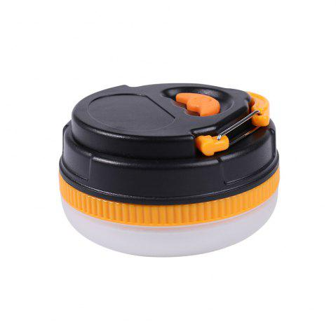 Hot Protable 5 Modes LED Camping Lamp - YELLOW AND BLACK  Mobile