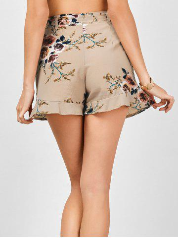 Shops Belted High Waisted Floral Shorts - XL KHAKI Mobile
