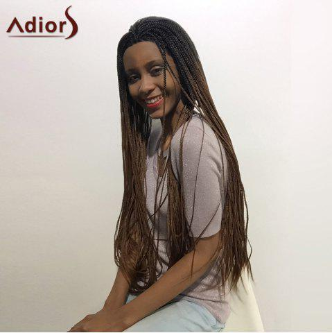New Adiors Two Tone Long Afro Braid Lace Front Synthetic Hair - 26INCH 1B/33# Mobile