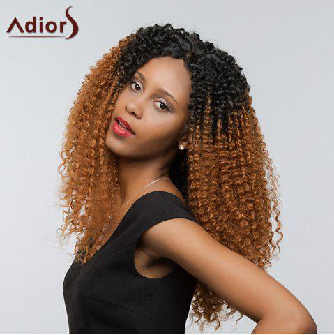 Buy Adiors Two Tone Long Deep Curly Side Part Lace Front Synthetic Hair - 26INCH #1B/30 Mobile