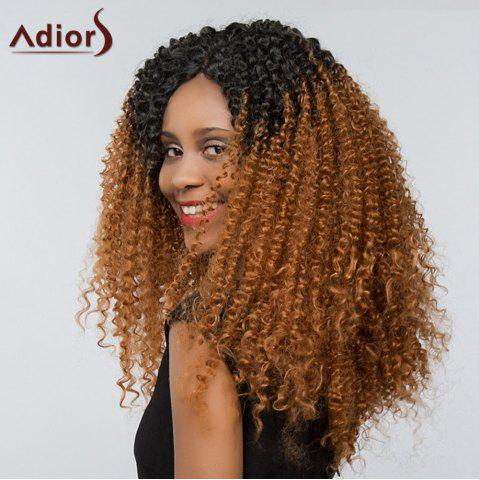 Store Adiors Two Tone Long Deep Curly Side Part Lace Front Synthetic Hair - 26INCH #1B/30 Mobile