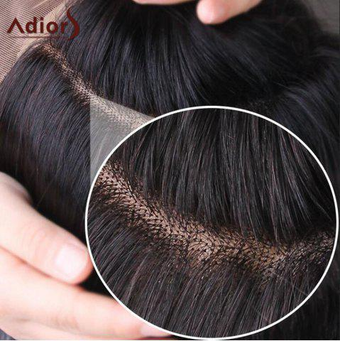Shops Adiors Long Free Part Two Tone Lace Front Wavy Synthetic Hair - 26INCH BLACK AND GREY Mobile