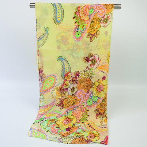Buy Ethnic Multicolor Blooming Flowers Printed Chiffon Scarf - PALOMINO  Mobile