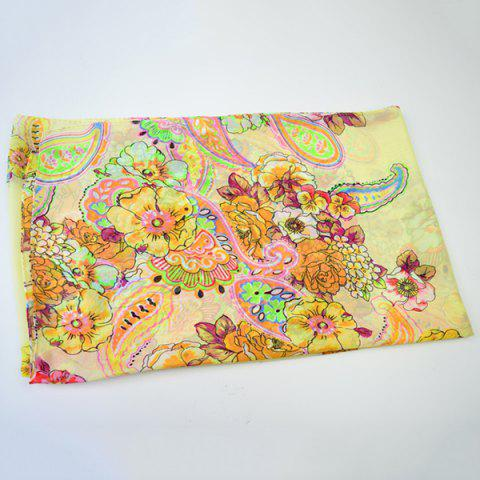 Unique Ethnic Multicolor Blooming Flowers Printed Chiffon Scarf - PALOMINO  Mobile