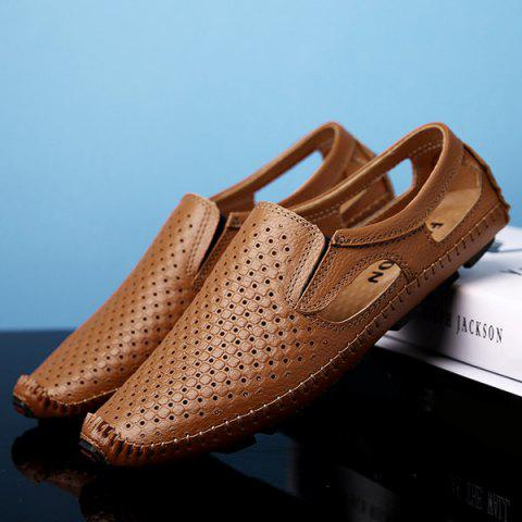 Affordable Stitching Hollow Out Casual Shoes - 40 BROWN Mobile