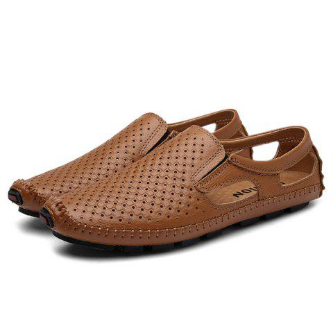 New Stitching Hollow Out Casual Shoes - 40 BROWN Mobile