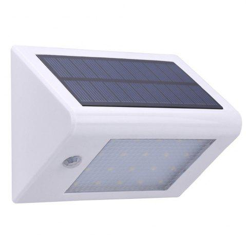 Affordable Garden Lawn Decor 20 LEDs Solar Powered Wall Lamp - WHITE  Mobile