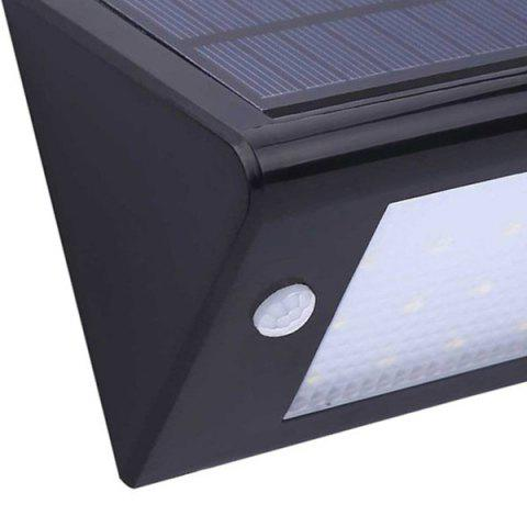 Outfit Garden Lawn Decor 20 LEDs Solar Powered Wall Lamp - BLACK  Mobile