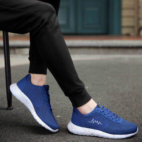 Chic Embroidery Mesh Athletic Shoes - 40 BLUE Mobile