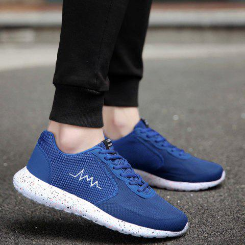 Outfit Embroidery Mesh Athletic Shoes - 40 BLUE Mobile