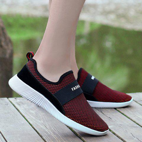 Fashion Elastic Band Mesh Casual Shoes - 40 RED Mobile