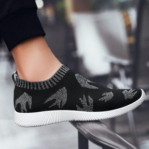 Discount Slip On Mesh Casual Shoes - 40 SILVER Mobile
