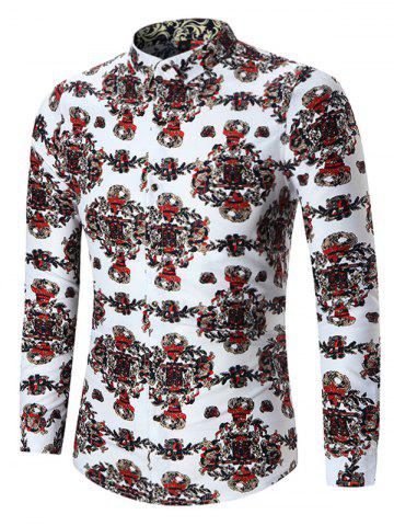Fashion Abstract Printed Plus Size Shirt