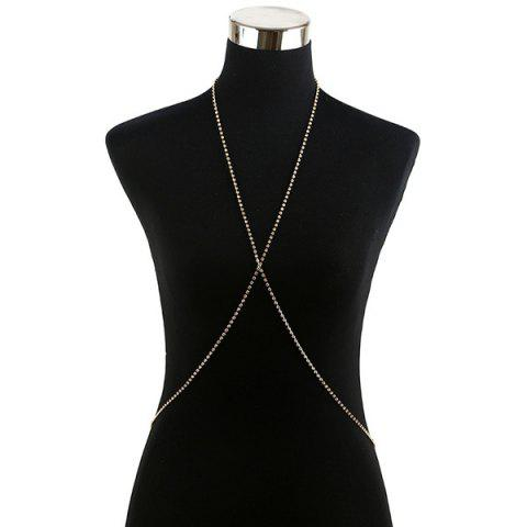 Buy Rhinestone X Shape Sandbeach Body Chain