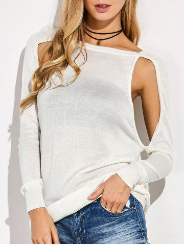 Buy Cutout Sweater WHITE 2XL
