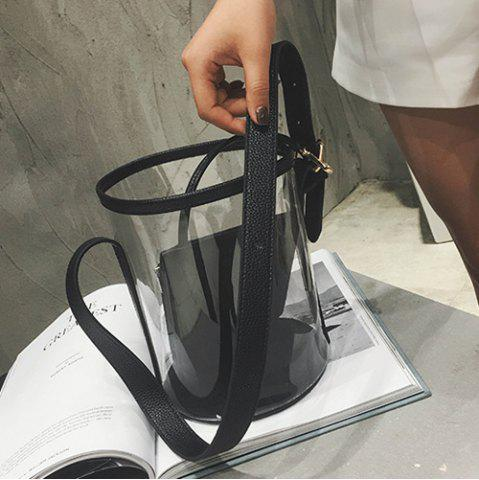 Buy Transparent Bucket Bag with Pouch Bag - BLACK  Mobile
