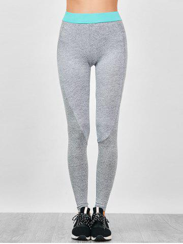 Outfits Color Block Gym Leggings - M GRAY Mobile