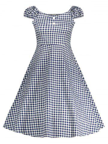 Gingham High Waisted A Line Robe vintage